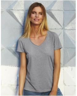 Damski t-shirt V-neck Triblend – TW058, B & C