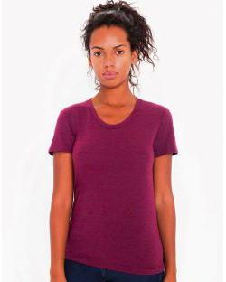 Damski T-Shirt Tri-Blend Crew Neck, American Apparel