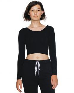 Damska bluzka Jersey LS Crop Top, American Apparel