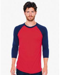 Koszulka Unisex rękawy 3/4, American Apparel