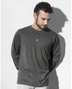T-Shirt męski Aden z długimi rękawami Henley, nakedshirt