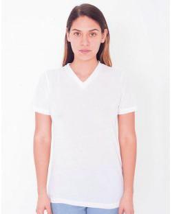 Damski T-Shirt V-Neck do sublimacji, American Apparel