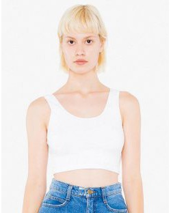 Damski Sleeveless Crop Top, American Apparel