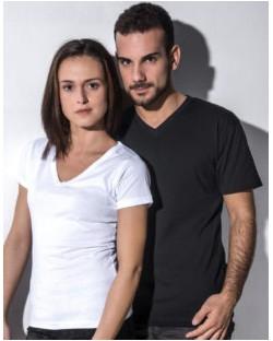 Damski t-shirt V-neck Organic Penny, nakedshirt