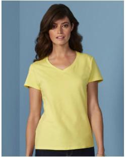 Damski t-shirt Premium Cotton V-Neck, Gildan