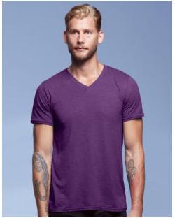 Koszulka Tri-Blend V-Neck Tee, Anvil