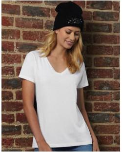 Damski t-shirt V-Neck – TW045, B & C