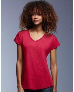 Damska koszulka Tri-Blend V-Neck Tee, Anvil