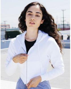 Damska bluza z kapturem Flex Cropped, American Apparel