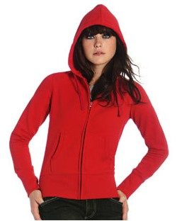 Damska bluza Hooded Full Zip/women, B & C
