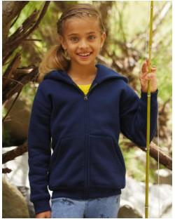 Dziecięca bluza z kapturem zapinana na zamek, Fruit of the Loom