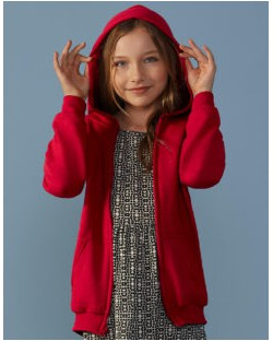Dziecięca bluza Heavy z kapturem na zamek, Gildan