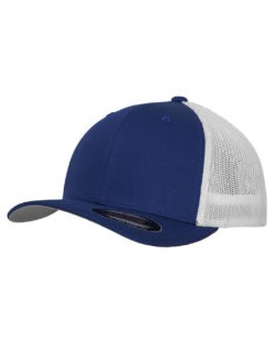 Dwukolorowa czapka z siatką Trucker, Flexfit