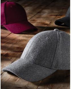 6 panelowa czapka Melton Wool, Beechfield