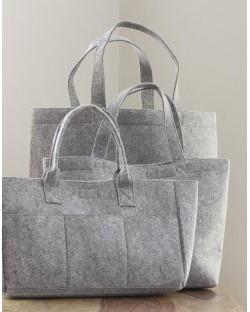 Mała zakupowa torebka z filcu, Bags by JASSZ