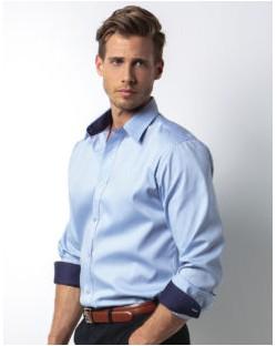 Koszula Contrast Premium Oxford z długimi rękawami, Kustom Kit