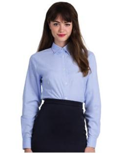 Bluzka Oxford z długimi rękawami, B & C