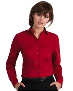 Bluzka popelinowa z długimi rękawami Smart LSL/wo., B & C