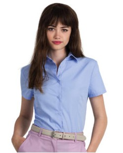 Bluzka popelinowa z krótkimi rękawami, B & C