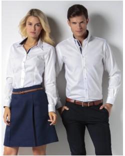 Koszula Contrast Premium Oxford LS, Kustom Kit