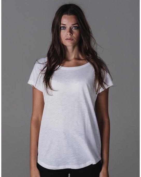 Damski t-shirt Organic Vintage Slub, Mantis