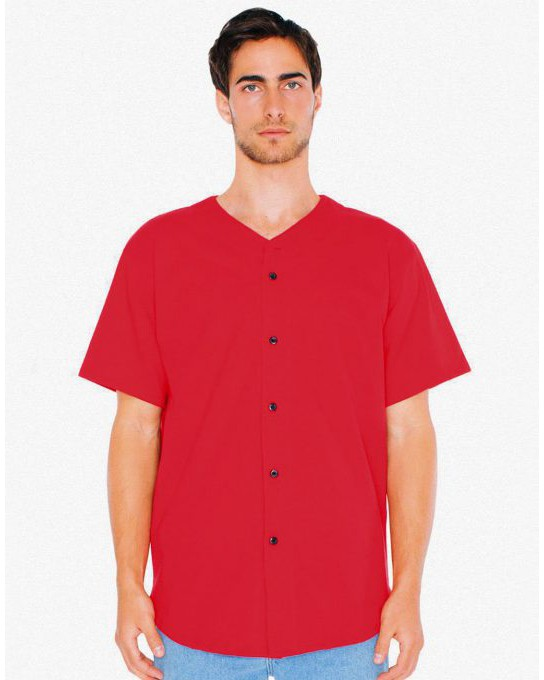 UnisexThick Knit Baseball Jersey, American Apparel