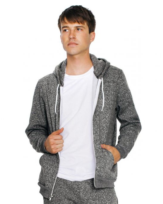 Unisex bluza z kapturem Mock Twist Zip, American Apparel