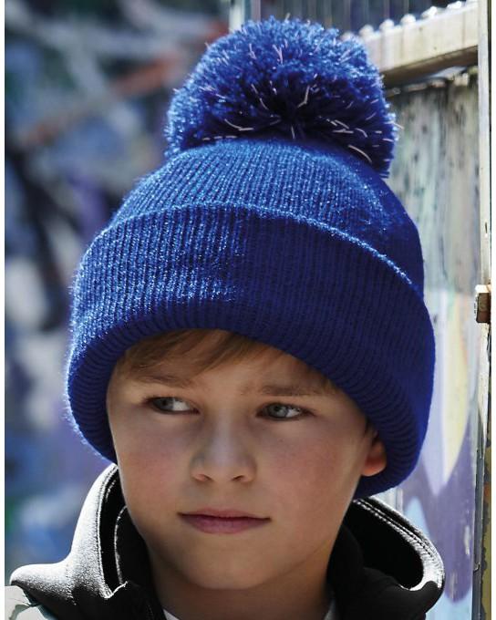 Dziecięca czapka z pomponem Bobble Beanie, Beechfield