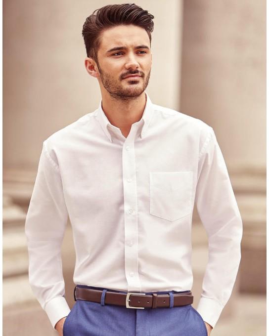 Koszula Oxford z długimi rękawami, Russell Europe