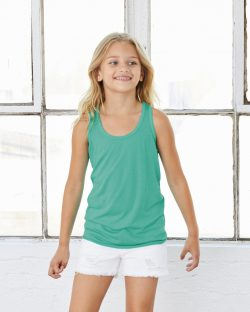 Youth Flowy Racerback Tank, Bella